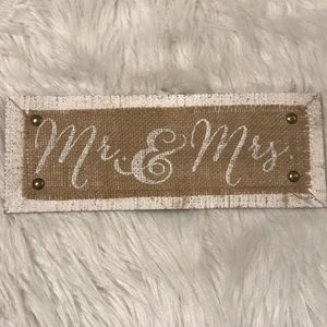 Hobby Lobby Mr. & Mrs. Wall or Table Art Decor